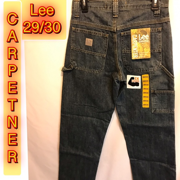 Lee Other - Lee Dungarees Carpenter Dark Blue Mens Jeans
